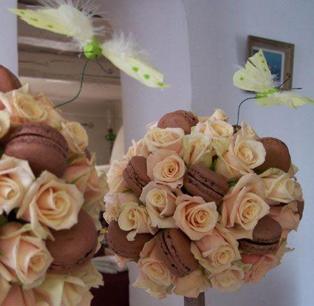 bouquet macaron mariage bouquet de fleurs pinterest chocolats art floral et gourmandise. Black Bedroom Furniture Sets. Home Design Ideas