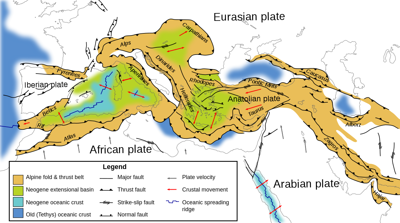 Tectonic map mediterranean en geology of the alps wikipedia tectonic map mediterranean en geology of the alps wikipedia gumiabroncs Choice Image