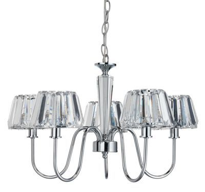 Bobo 5 light shade chandelier homebase