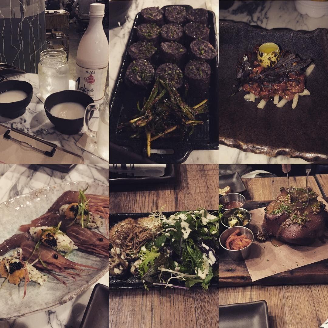 #makgoli #soondae #steaktartare #shrimp #jokbal #koreanfood
