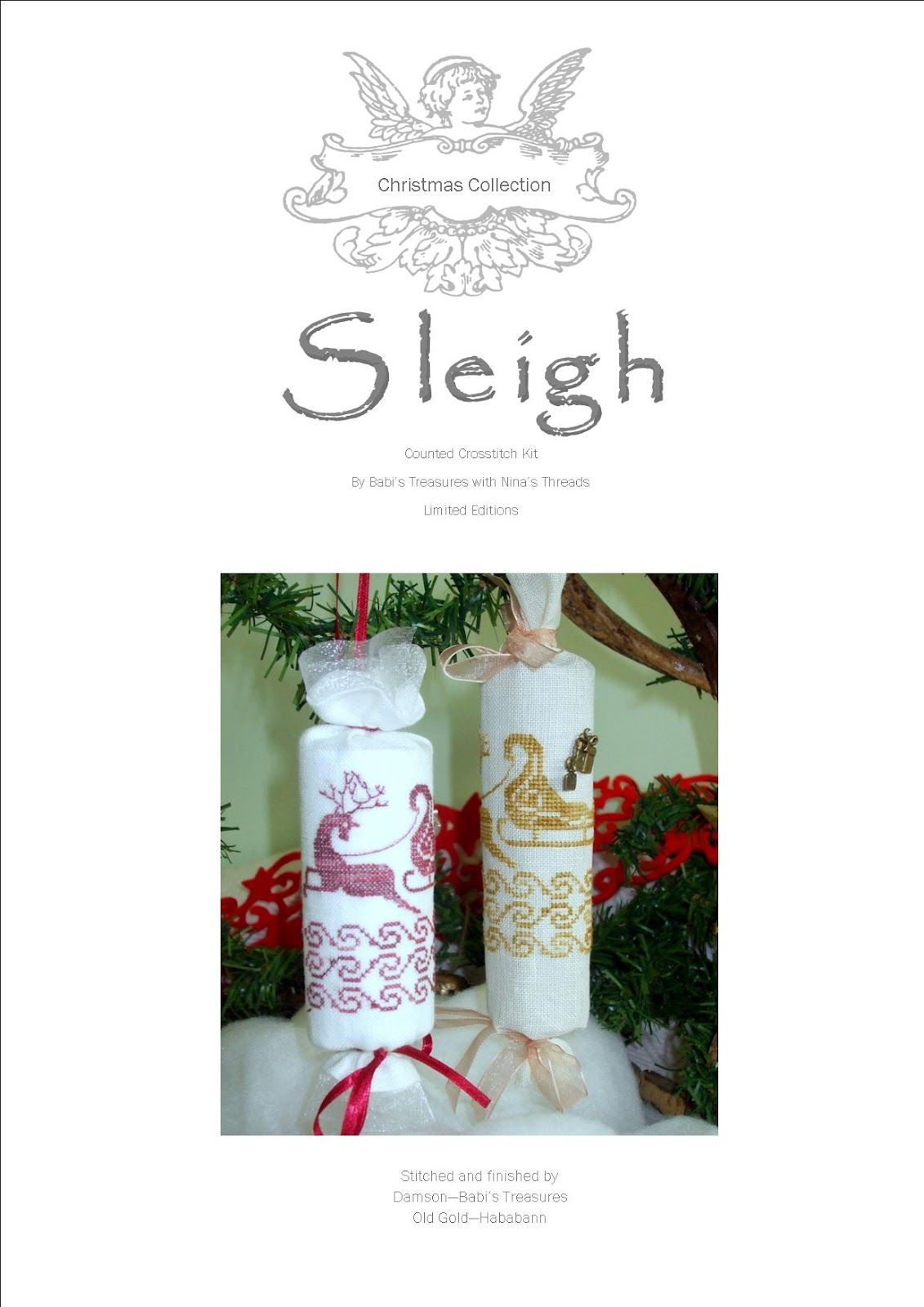 * Between Crosses with Nina *: Christmas Collection - 6th: Sleigh