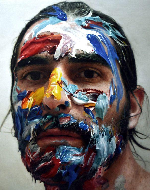 Картинка человек красками