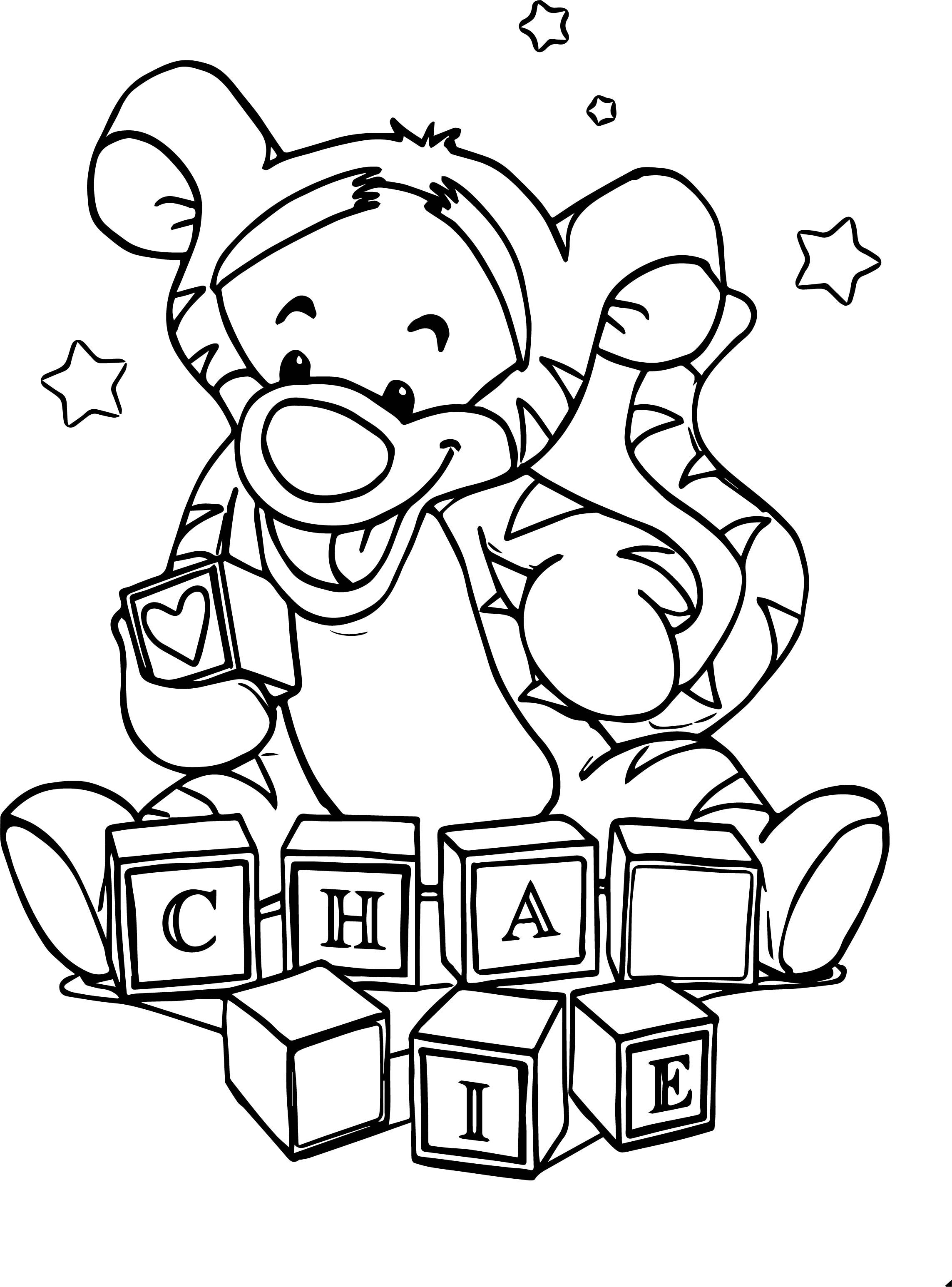 cool Box Baby Tigger Coloring Page (With images
