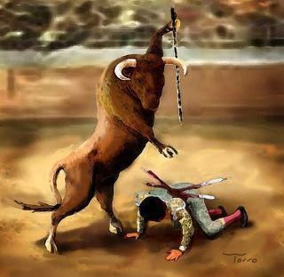 .Yes!  Animal cruelty sucks. Wonder how the matador would like it if it's reversed!