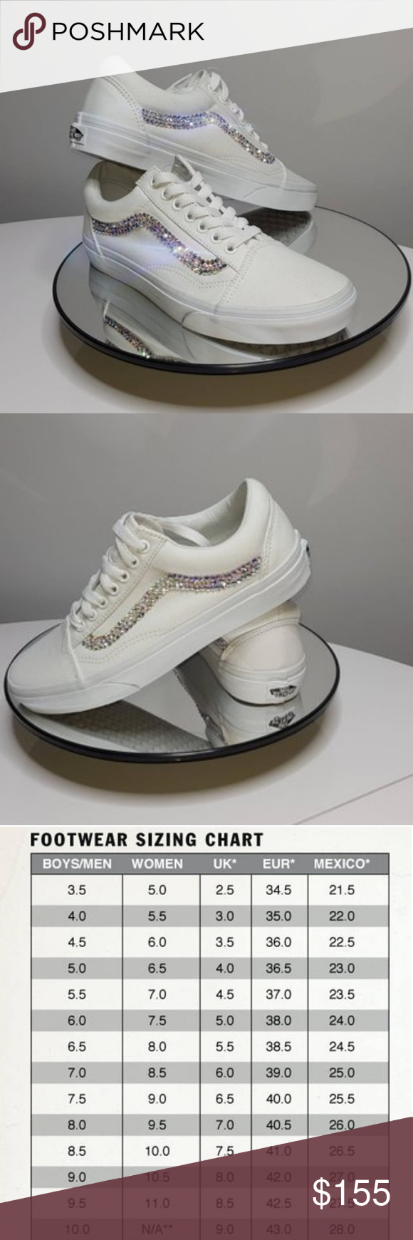 c60182b4c4f Swarovski Vans These are handmade and will take up to 2 weeks to ship