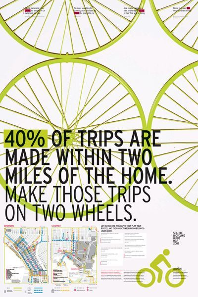 40 Of Trips Are Made Within Two Miles Of Home In 2020 Bike Poster I Want To Ride My Bicycle Bike Life