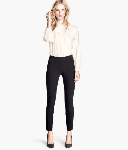 H&M slim fit pants black