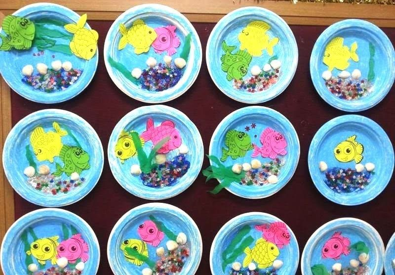 paper plate aquarium craft idea | paper plate crafts for children ...
