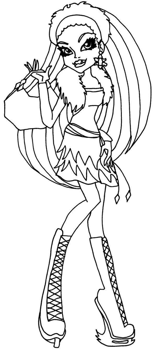 abbey bominable monster high coloring page coloring pages of epicness pinterest monster high monsters and bullet drawing