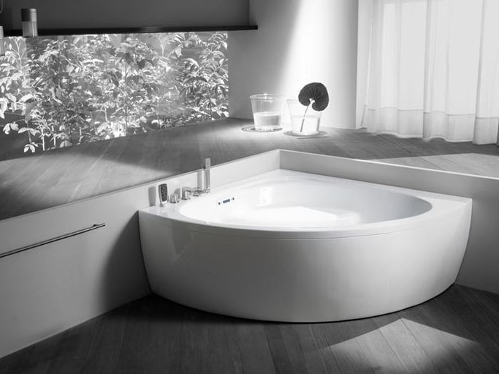 Tub Shower Combination From Teuco Corner Tub With Images