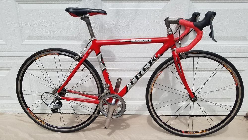 Trek 5000 52cm Oclv Carbon Fiber Road Bike Shimano 600 105 Road Racing Bike Trek Bicycle Toddler Bike Helmet