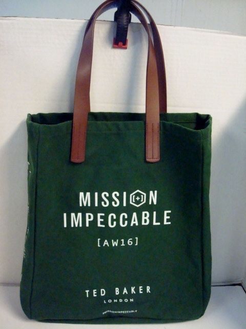 9dcb1e605 Ted Baker London Mission Impeccable AW16 Reusable Shopping Tote Bag # TedBaker