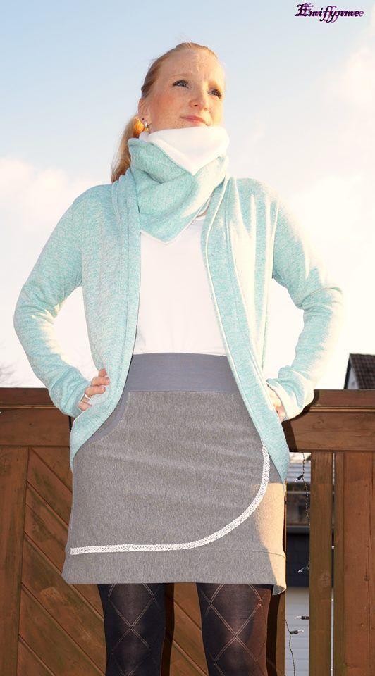 Lady Sweat Skirt | Schnittmuster rock, Rock und Kreatives nähen
