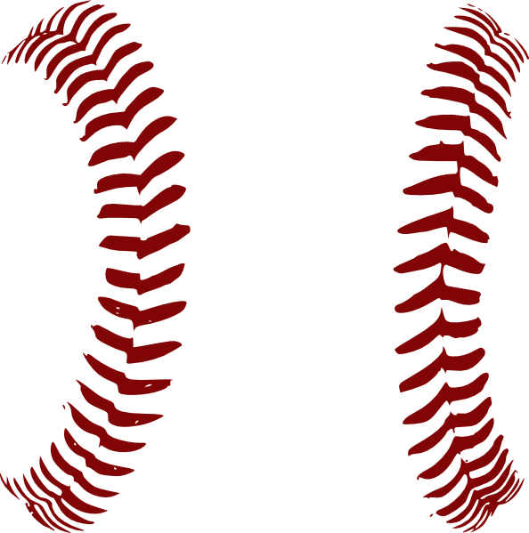 red softball laces clip art