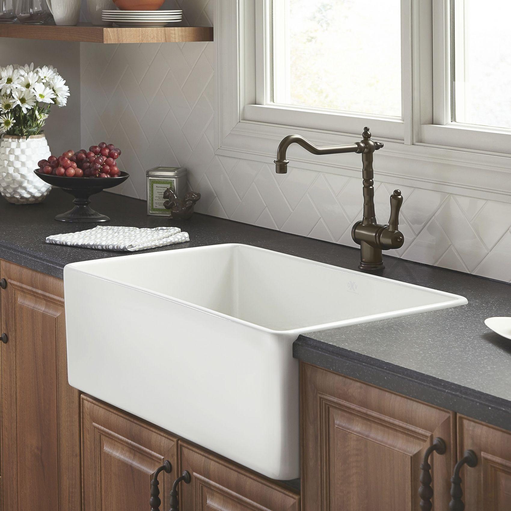 Hillside 30 Inch Apron Kitchen Sink Drop In Farmhouse Sink Apron Sink Kitchen White Kitchen Sink