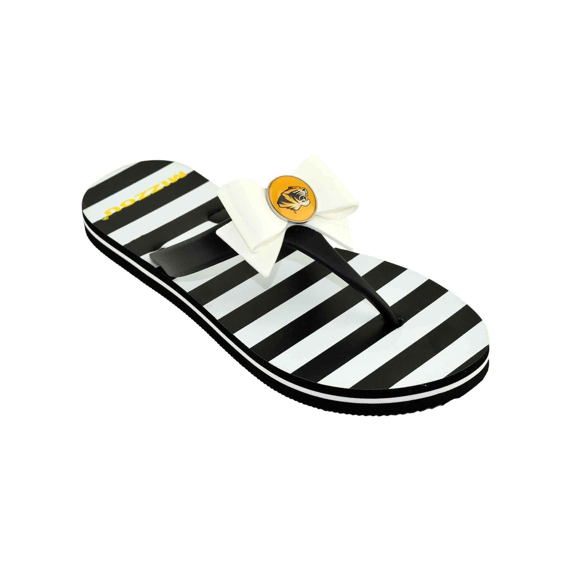 discount sneakernews Women's College Edition ... Missouri Tigers Bow Flip-Flops discount footlocker pictures cheap for cheap SU12qU