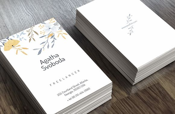 love the simplicity of this flower business card business cards on creative market