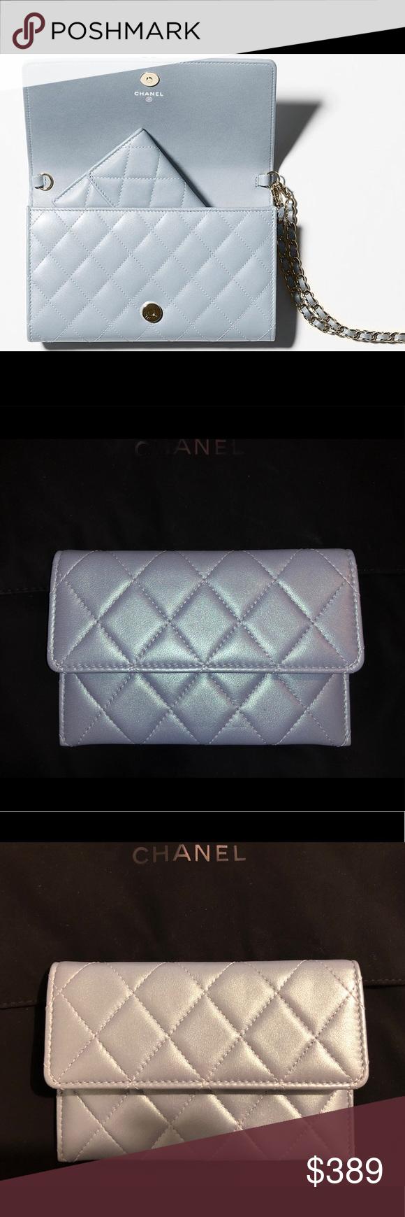 b380afadd52a Chanel iridescent coin purse boy wallet chain Chanel 2016 spring/summer act  1 iridescent light