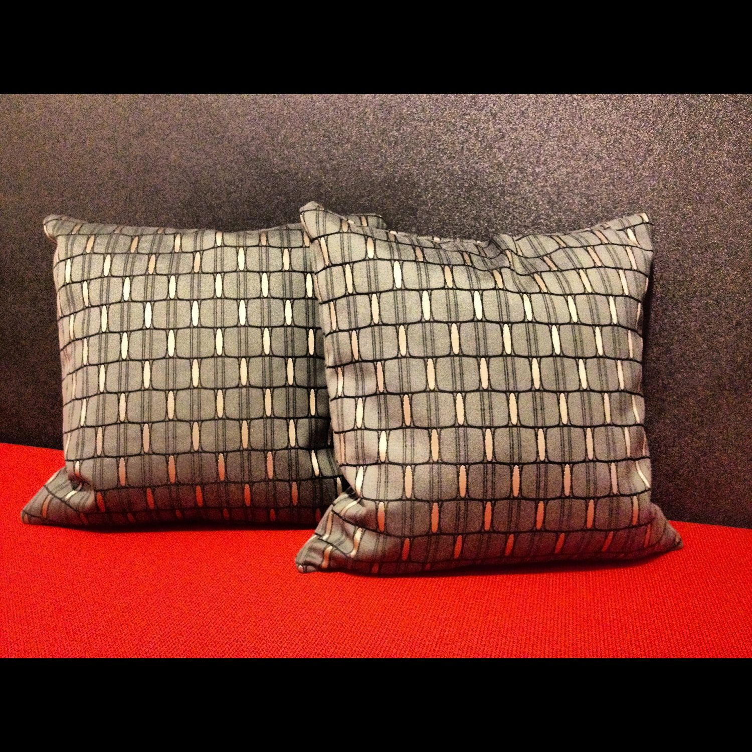 Designer Pillows featuring Designtex Landau Silver Mine. $60.00, via Etsy.