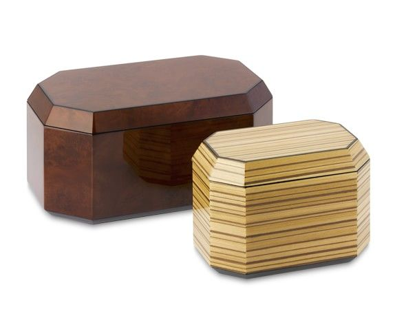 Exotic Zebra Wood Box Medium Williams Sonoma Copper Mugs Bo