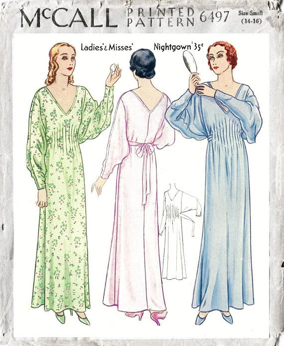 1920s 20s dress pattern // gown butterfly sleeves // pintucks ...