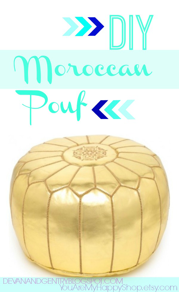 DIY Moroccan pouf | http://www.hercampus.com/life/campus-life/22-diy-projects-only-look-expensive
