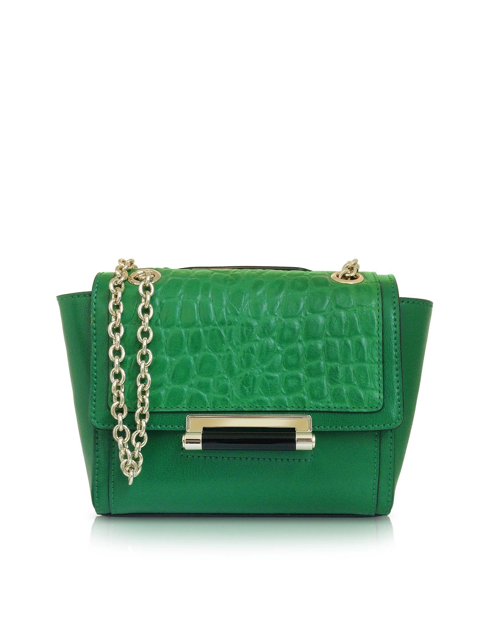 Diane Von Furstenberg 440 Mini Croc Crossbody Bag at FORZIERI Emerald Green 1404c6c37cf2b