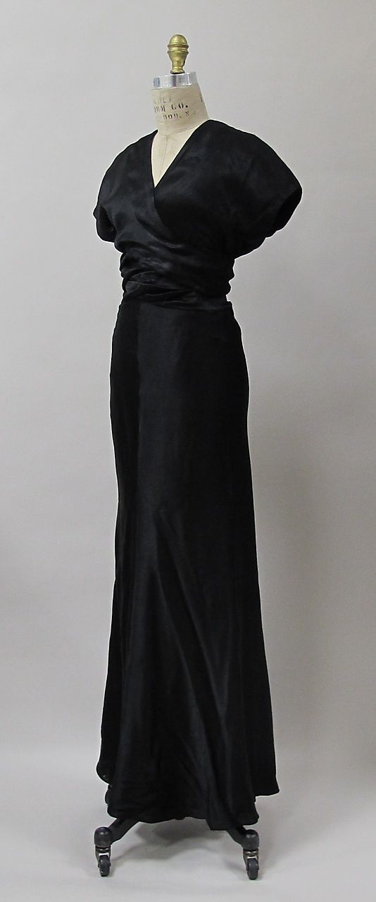 Evening dress Charles James Date: 1932 Culture: American Medium: silk/rayon Accession Number: 2013.401