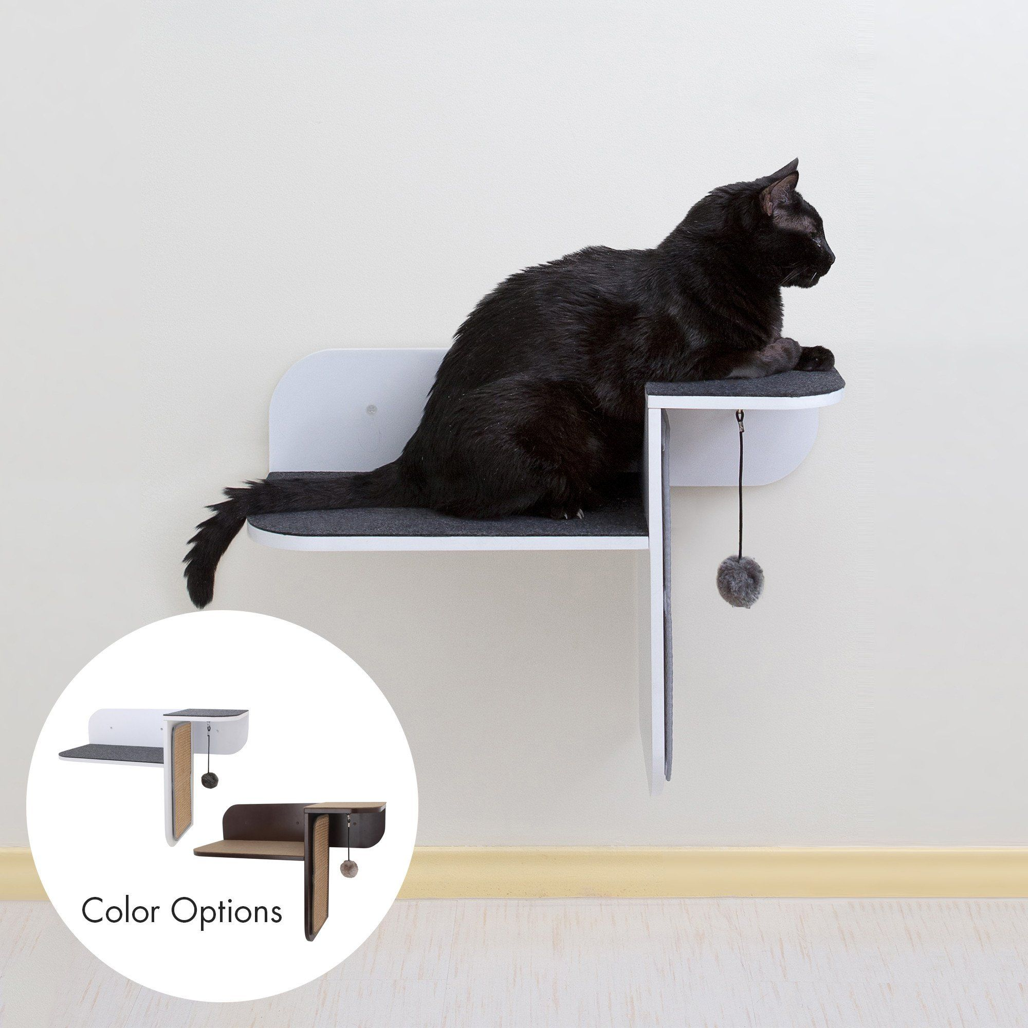 Step Perch Wallmounted Cat Perch, Scratcher & Lounge by