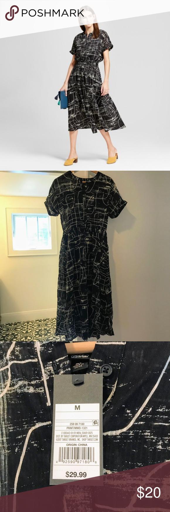 Black Printed Midi Dress Printed Midi Dress Midi Dress Dresses [ 1740 x 580 Pixel ]