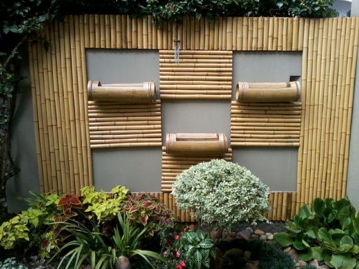 Fancy wanddeko bambus deko gartendeko holz