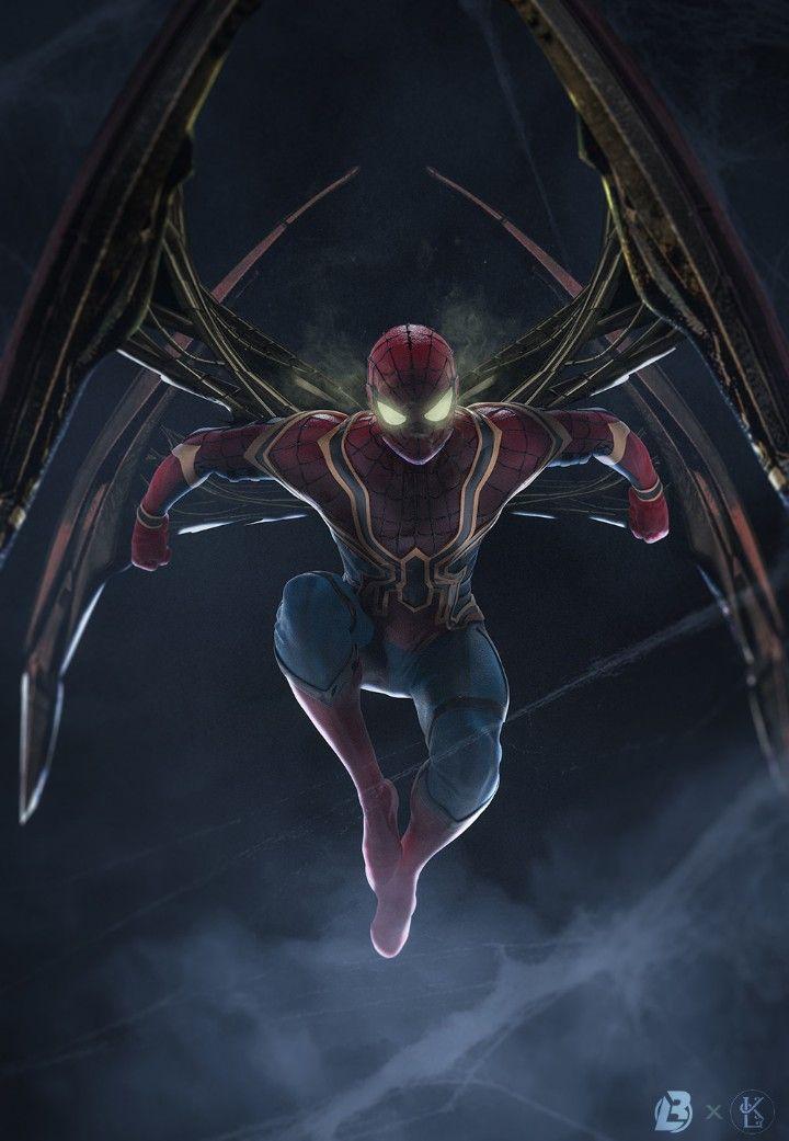 Iron spider man marvel superh roes dibujo del hombre - Animesh wallpaper ...