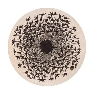 Seed Pattern 8ft Round Rug In Chocolate And Cream Thomas P