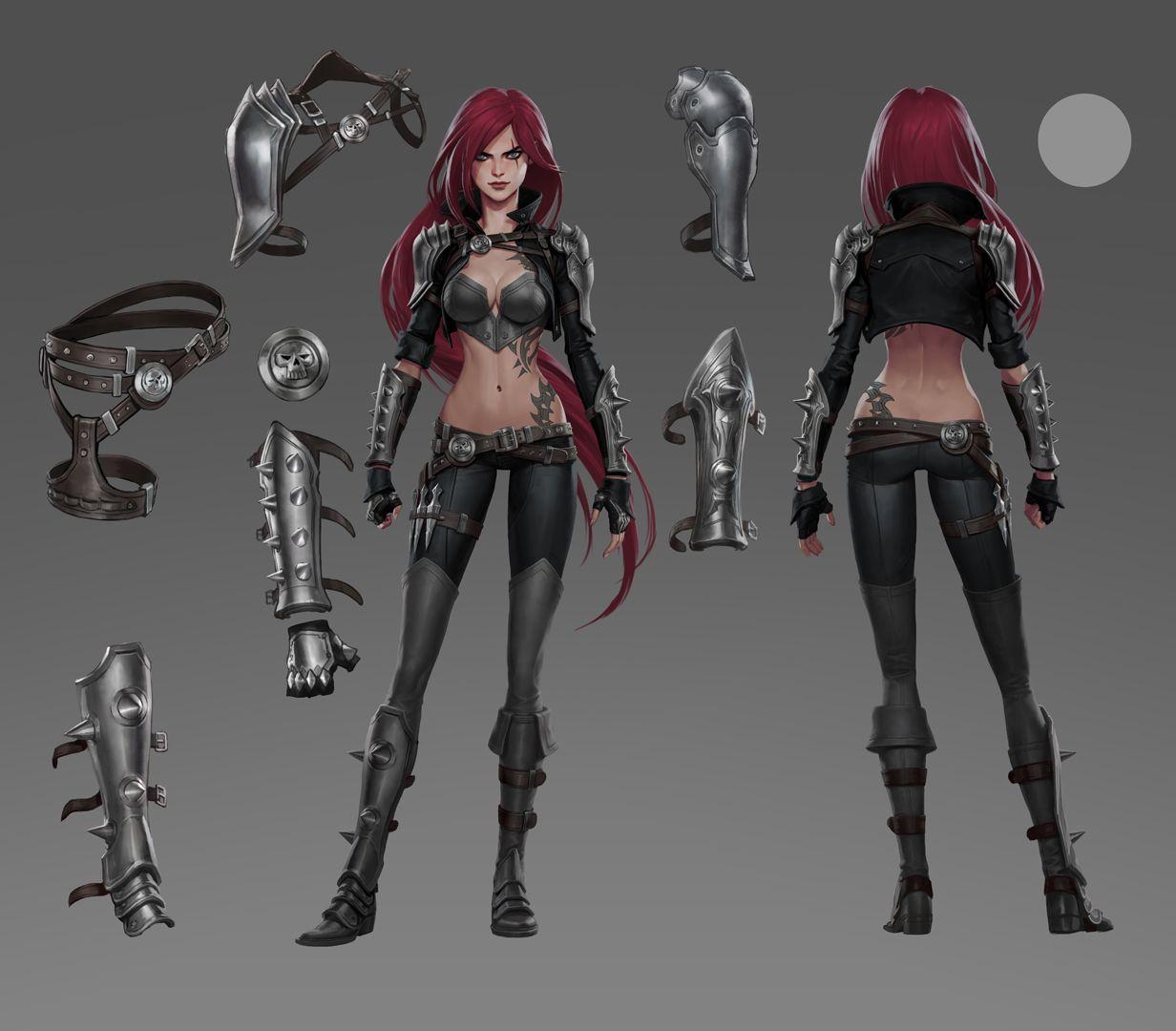Katarina armor concept   Art of League of Legends   League ...
