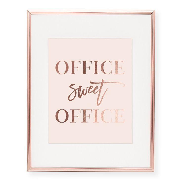 Office Sweet Office Foil Art Print