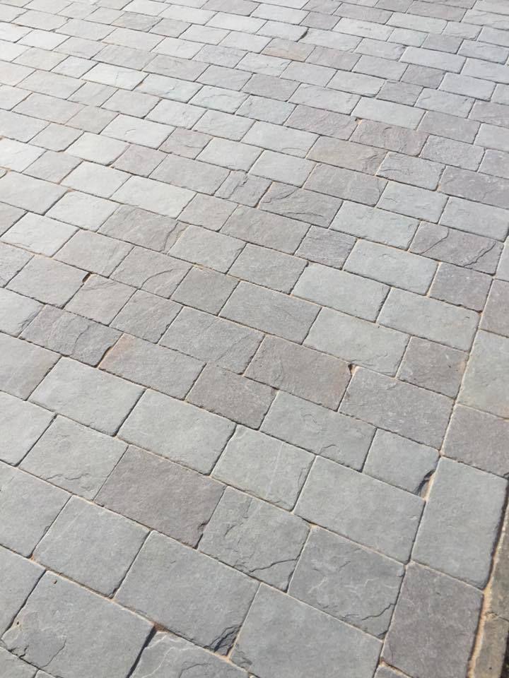 Dove Grey Limestone 50mm Driveway Setts Paving Edging Block Paving Indian Stone Ebay Block Paving Block Paving Driveway Stone Driveway
