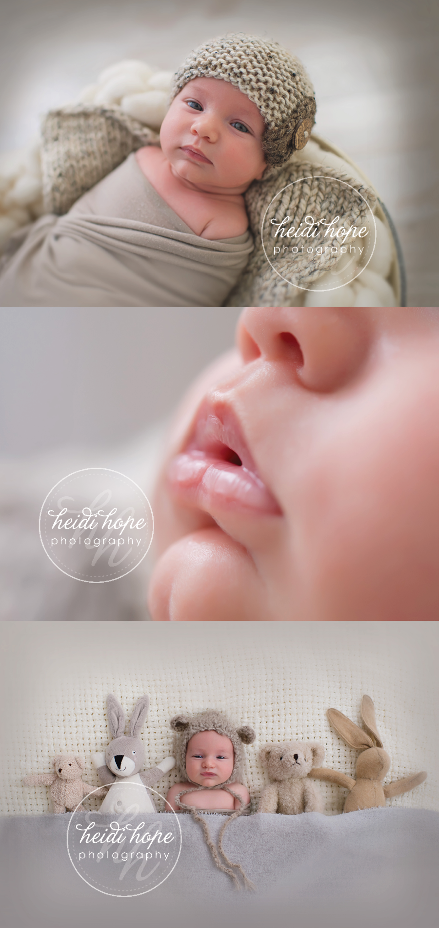 6 week old baby a cozy in neutrals heidi hope photography