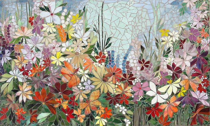 Mosaic Floral Mural