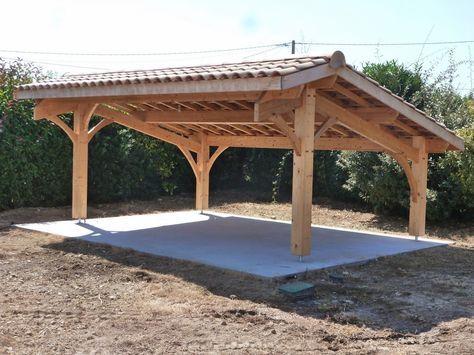Abris de jardin bois / Carport voitures bois / Garage Bois / Auvent - Montage D Un Garage En Bois