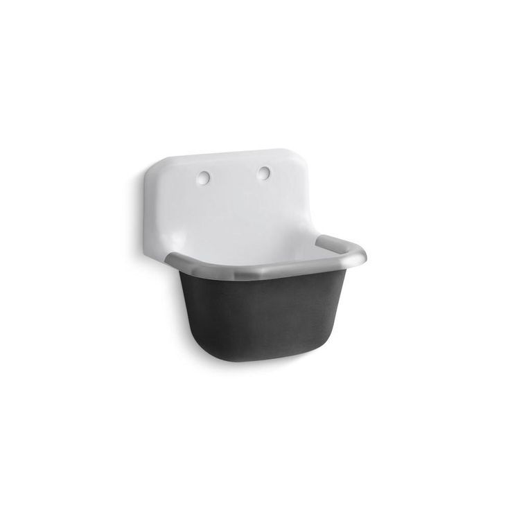 Kohler\'s Bannon Wall Mount Cast Iron Service Sink | Wall mount ...