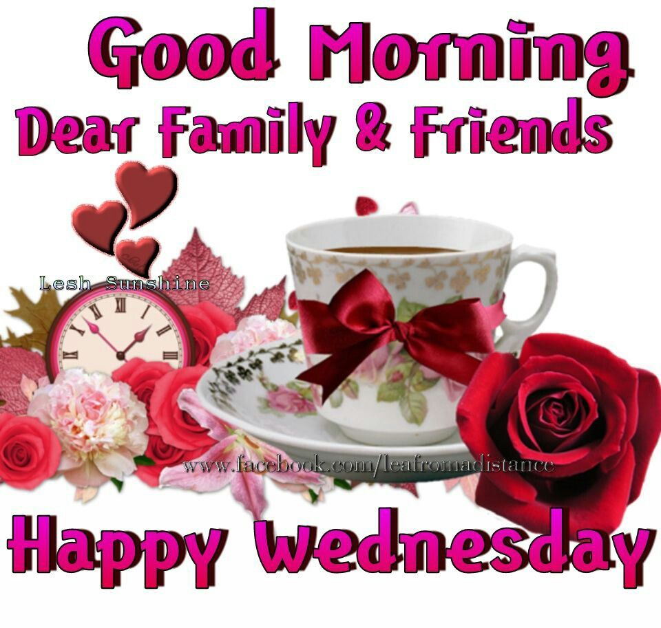 Good Morning Dear Family & Friends, Happy Wednesday ...