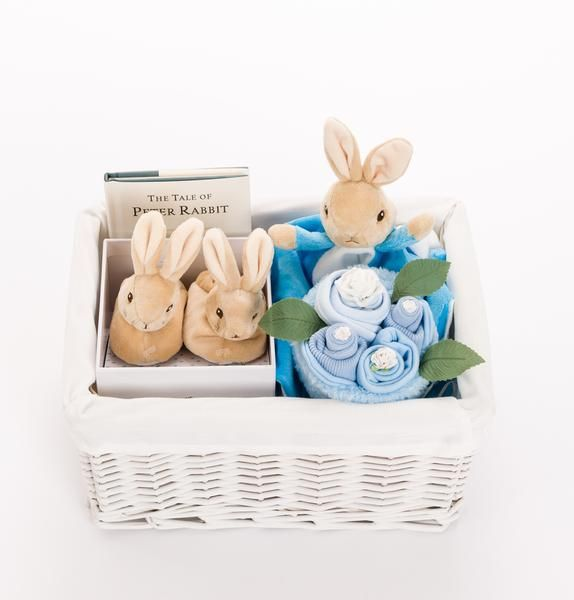 New baby boy gift basket complete with peter rabbit comforter and new baby boy gift basket complete with peter rabbit comforter and babys first peter rabbit negle Gallery