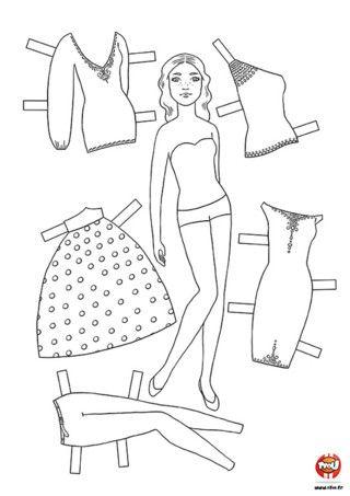 Activité : Mannequin. Imprime ce mannequin gratuitement sur TFou.fr. A toi de créer le look idéal en changeant autant de fois que tu le veux les couleurs des vêtements et accessoires. Tu peux même te servir du gabarit pour créer tes propres tenues !
