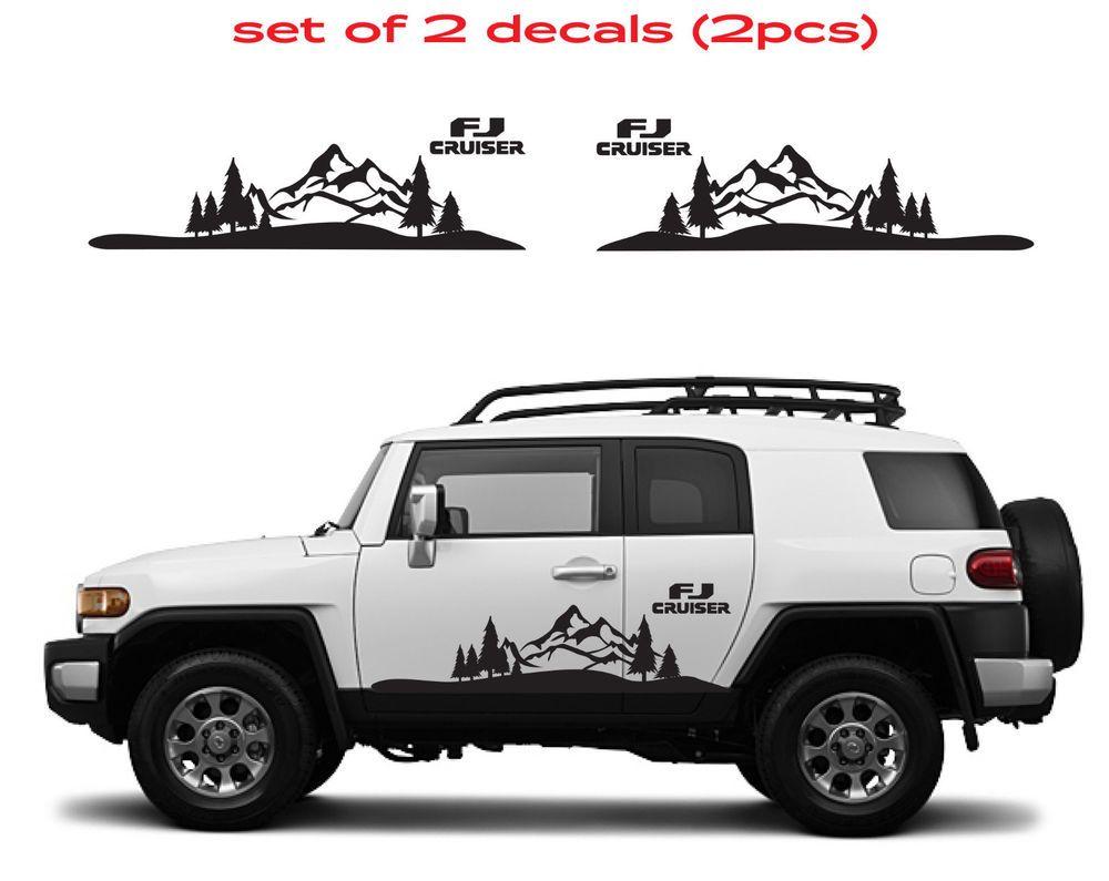 TOYOTA FJ CRUISER Mountain Decal Vinyl Side Door Graphics #10 ... on toyota receiver wiring harness, toyota fj hitch, toyota fj trailer wires, toyota fj parts diagrams, toyota fj oem parts,