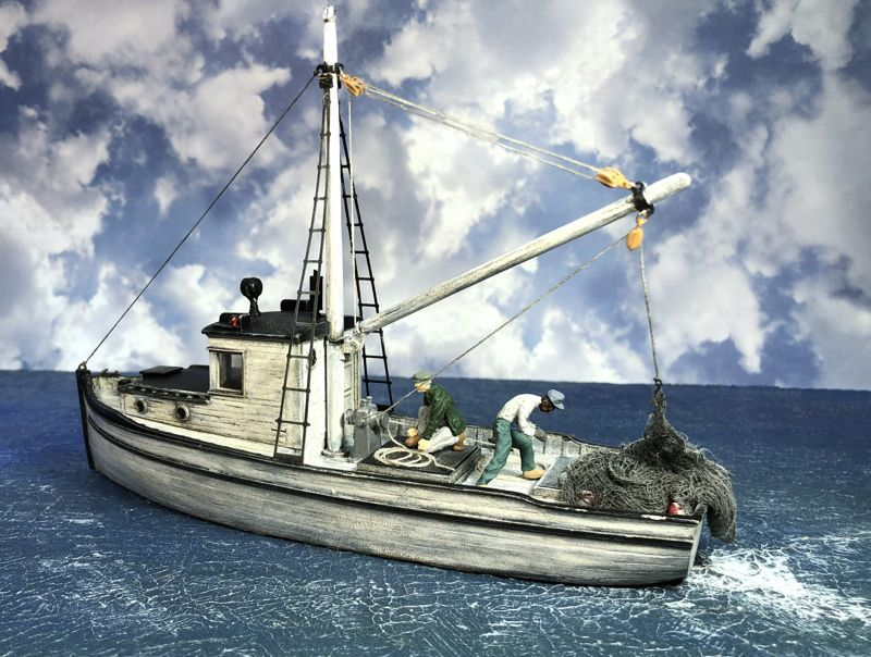 O On30 1 48 Scale Combination Fishing Boat Fishing Boats Boat Model Boats Building