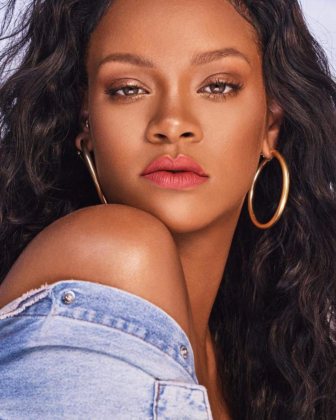 See RIHANNA Model The New Fenty Beauty Lip Line in 2020