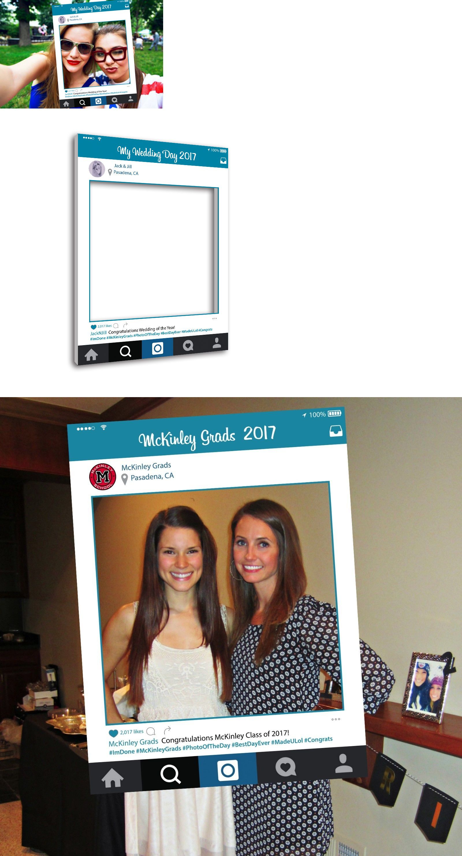 Guest Books and Pens 20940: Instagram Style Cutout Photo Booth Frame ...