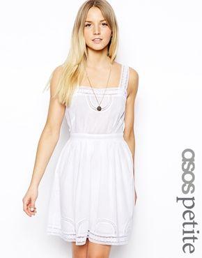 ASOS PETITE Exclusive Dress with Pretty Cotton Lace Trim ...