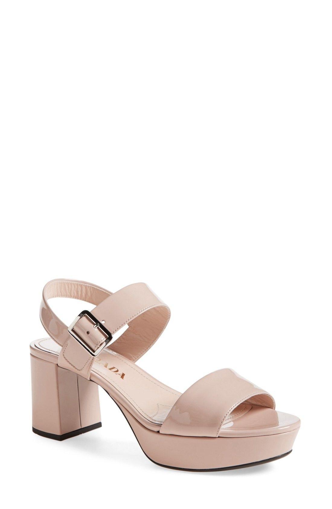 abf16b1bda16 Free shipping and returns on Prada Block Heel Sandal (Women) at  Fashiondoxy.com.