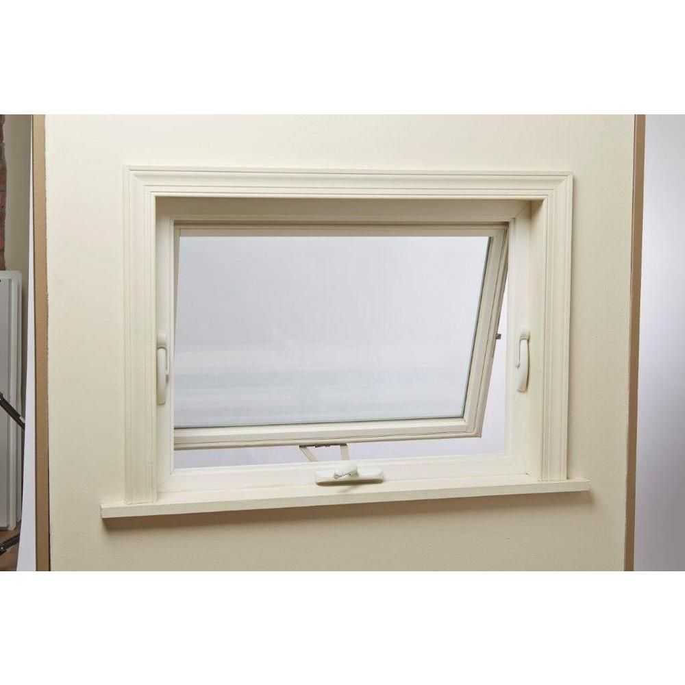 TAFCO WINDOWS 32 in. x 24 in. Awning Vinyl Window - White ...
